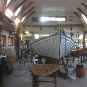 Boat in shop