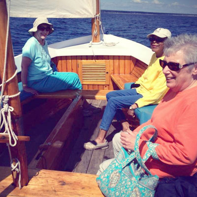 Ladies sailing in Ogunquit