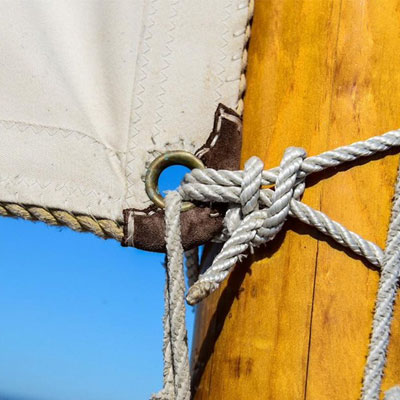 Sail tied to mast - copyright DAG Photography